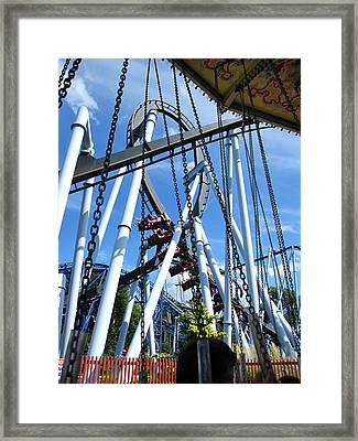 Hershey Park - Great Bear Roller Coaster - 121216 Framed Print by DC Photographer