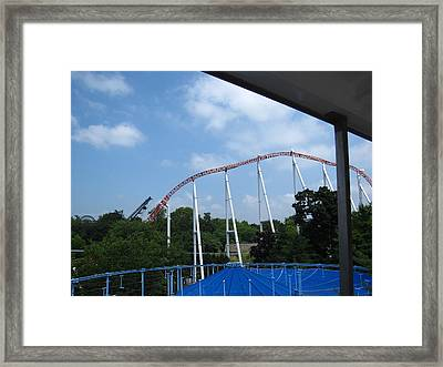 Hershey Park - Great Bear Roller Coaster - 12123 Framed Print by DC Photographer