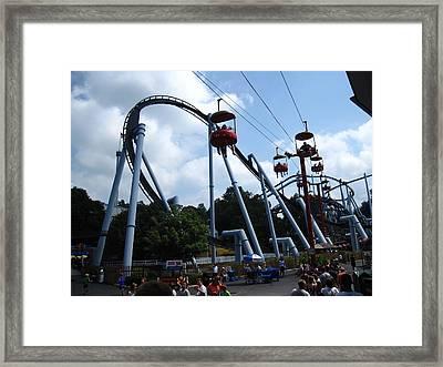 Hershey Park - Great Bear Roller Coaster - 12125 Framed Print by DC Photographer