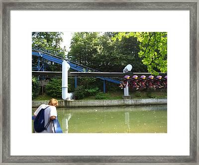 Hershey Park - Great Bear Roller Coaster - 12128 Framed Print by DC Photographer
