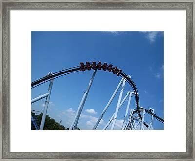 Hershey Park - Great Bear Roller Coaster - 12129 Framed Print by DC Photographer