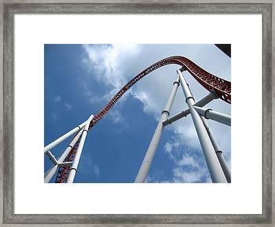 Hershey Park - Storm Runner Roller Coaster - 12123 Framed Print by DC Photographer