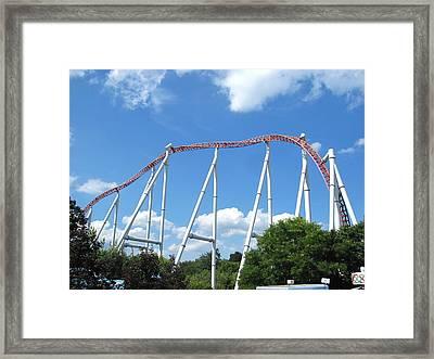 Hershey Park - Storm Runner Roller Coaster - 12126 Framed Print by DC Photographer