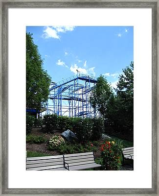 Hershey Park - Wild Mouse Roller Coaster - 12121 Framed Print by DC Photographer