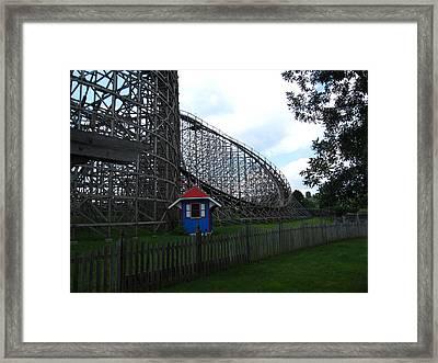 Hershey Park - Wildcat Roller Coaster - 12121 Framed Print by DC Photographer