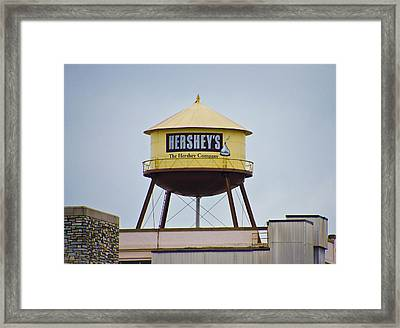 Hershey's Water Tower Framed Print by Bill Cannon