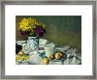 Shy Mums Framed Print by Diana Angstadt