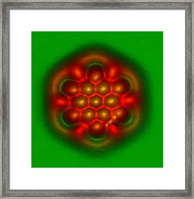 Hexabenzocoronene Molecule Framed Print by Ibm Research