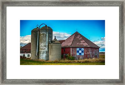Hexagon Quilt Barn Framed Print by Paul Freidlund