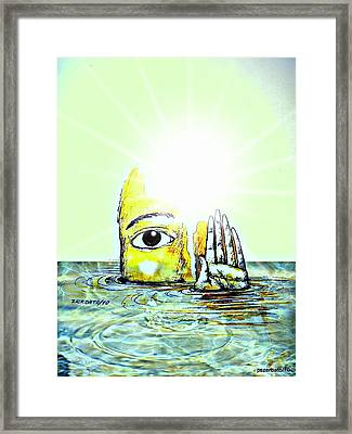 Hi I Am Your Conscience Framed Print by Paulo Zerbato