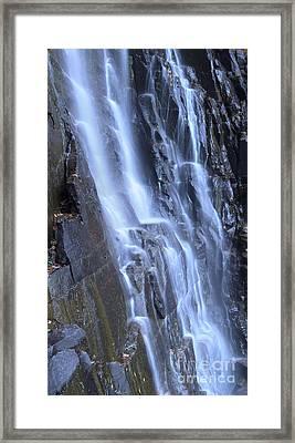 Hickory Nut Falls Waterfall Nc Framed Print by Dustin K Ryan