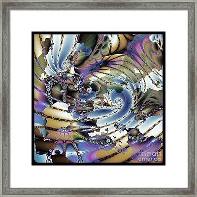 Hidden Chaos Of Order Framed Print by Elizabeth McTaggart