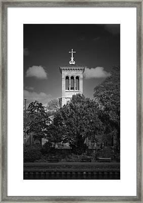 Hidden Church On Thames Framed Print by Maj Seda