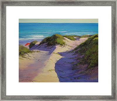 Hidden Dunes Framed Print by Graham Gercken