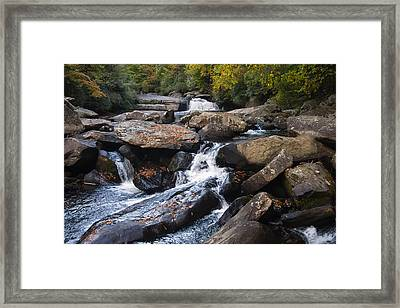 Hidden Fall On The Horse Pasture River 4 Framed Print by Chris Flees