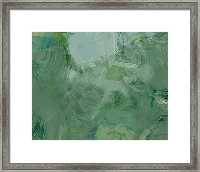 Green Abstract Framed Print by Flo Karp