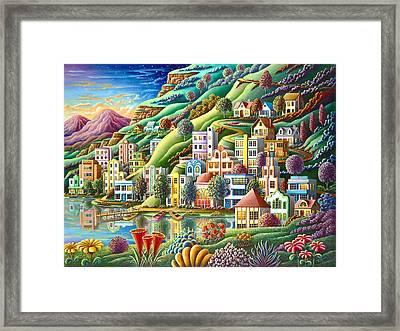 Hidden Harbor Framed Print by Andy Russell