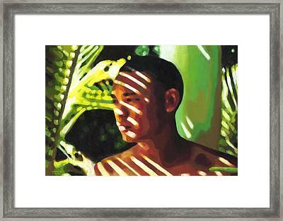 Hidden In The Forest Framed Print by Douglas Simonson