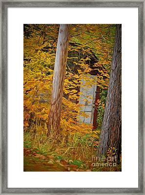 Hidden In The Leaves Framed Print by Deborah Benoit