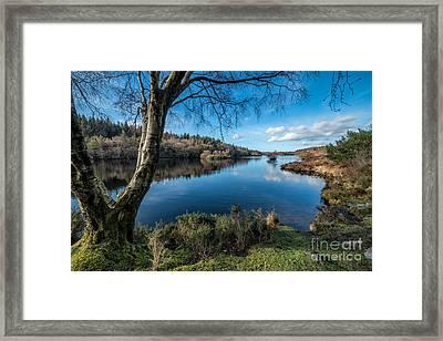 Hidden Lake Framed Print by Adrian Evans