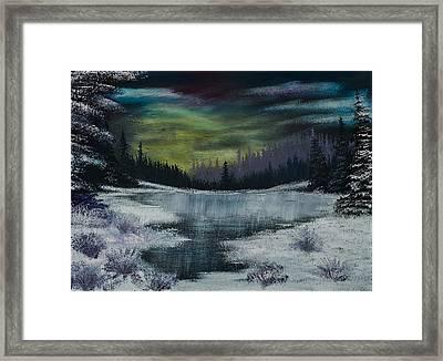 Hidden Lake Framed Print by Shannon Wells