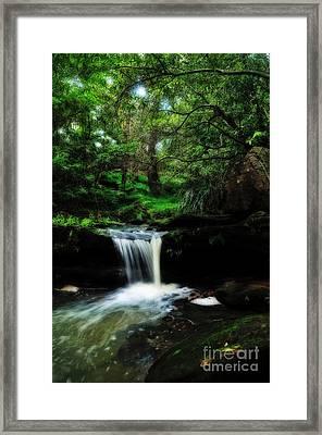 Hidden Rainforest - Painterly Framed Print by Kaye Menner
