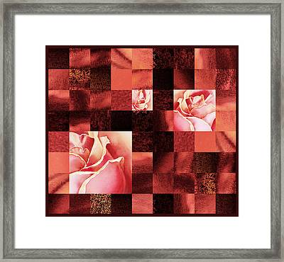 Hidden Roses Squared  Framed Print by Irina Sztukowski