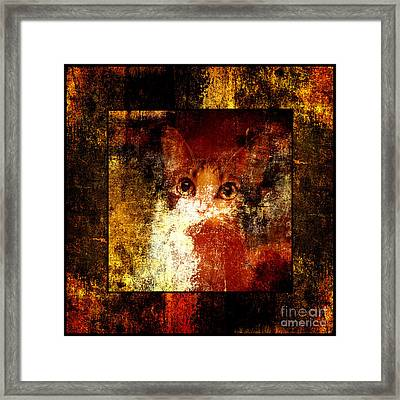 Hidden Square Framed Print by Andee Design
