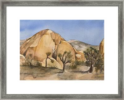 Hidden Valley In Joshua Tree Framed Print by Lynne Bolwell