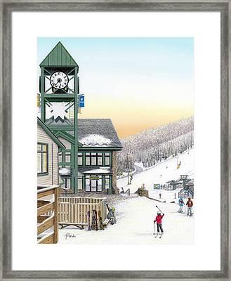 Hidden Valley Ski Resort Framed Print by Albert Puskaric