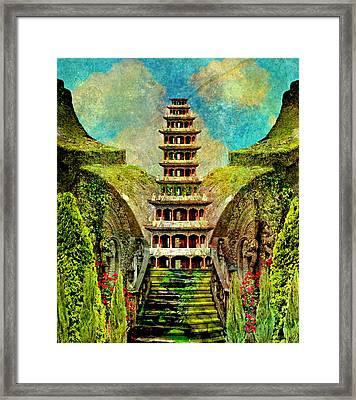 Hidden Zen Framed Print by Ally  White