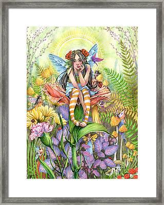 Hide And Seek Framed Print by Sara Burrier