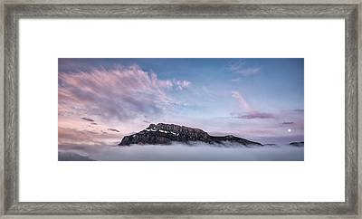 High Above The Clouds Framed Print by Jon Glaser