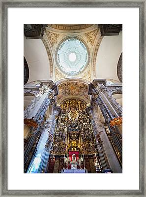 High Altar And Dome Interior In Seville Cathedral Framed Print by Artur Bogacki