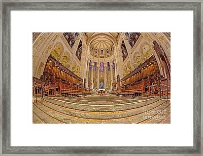 High Altar At Saint John The Divine Cathedral  Framed Print by Susan Candelario