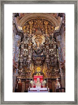 High Altar Of The Seville Cathedral Framed Print by Artur Bogacki