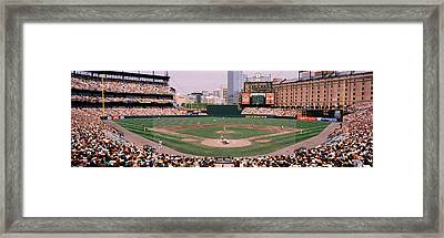 High Angle View Of A Baseball Field Framed Print by Panoramic Images