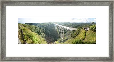 High Angle View Of A Bridge, El Puente Framed Print by Panoramic Images