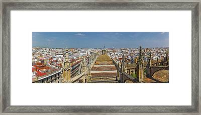 High Angle View Of A Cathedral Framed Print by Panoramic Images