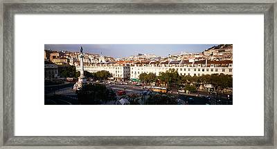 High Angle View Of A City, Lisbon Framed Print by Panoramic Images