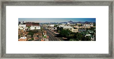 High Angle View Of A City, Phoenix Framed Print by Panoramic Images