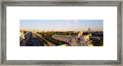 High Angle View Of A City, Royal Framed Print by Panoramic Images