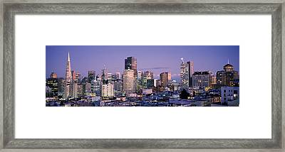 High Angle View Of A City, San Framed Print by Panoramic Images