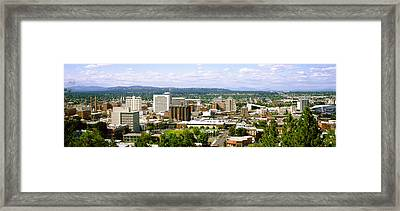 High Angle View Of A City, Spokane Framed Print by Panoramic Images