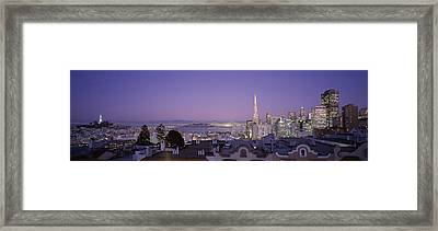 High Angle View Of A Cityscape From Nob Framed Print by Panoramic Images