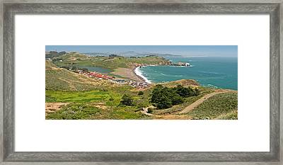High Angle View Of A Coast, Marin Framed Print by Panoramic Images