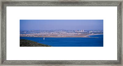High Angle View Of A Coastline Framed Print by Panoramic Images