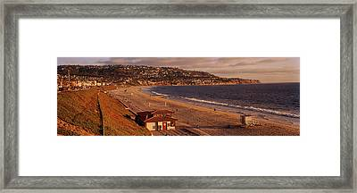 High Angle View Of A Coastline, Redondo Framed Print by Panoramic Images