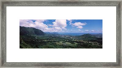 High Angle View Of A Landscape Framed Print by Panoramic Images