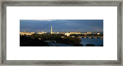 High Angle View Of A Monument Framed Print by Panoramic Images